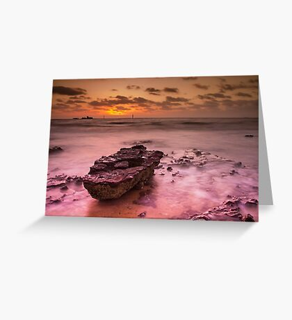Half Moon Bay - Black Rock Greeting Card
