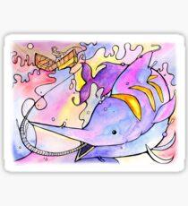 Vibrant Marlin Illusration Sticker