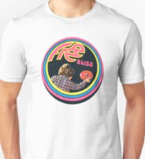 Vintage Frisbee Decal 70's Sport Free bliss Unisex T-Shirt