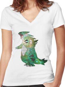 Tyranitar - Pokemon Women's Fitted V-Neck T-Shirt
