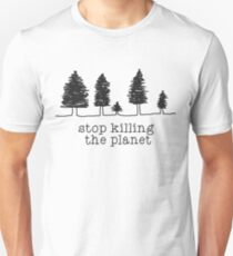 'Stop Killing The Planet' Sketch Print Unisex T-Shirt