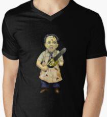 Leatherface Caricature Men's V-Neck T-Shirt