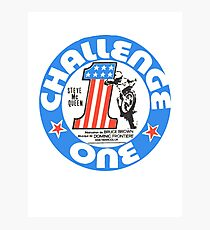 Vintage Challenge one Steve MC Queen Decal Photographic Print