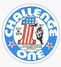 Vintage Challenge one Steve MC Queen Decal Sticker