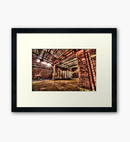 Dystopian factory #4 Framed Print