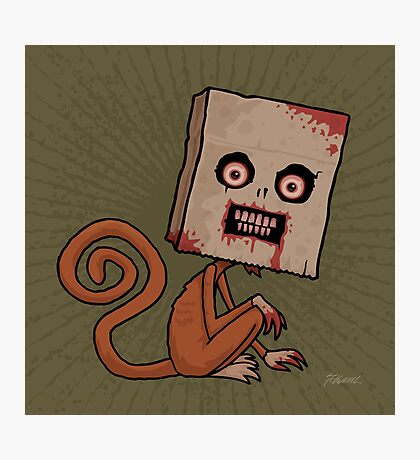 Psycho Sack Monkey Photographic Print
