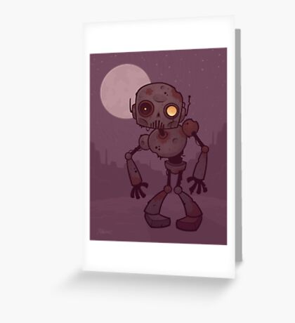 Rusty Zombie Robot  Greeting Card