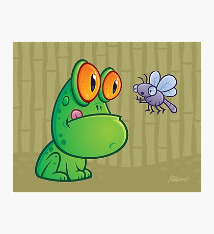 Frog and Dragonfly Photographic Print