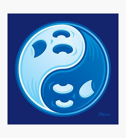 Ghost Yin Yang Symbol Photographic Print