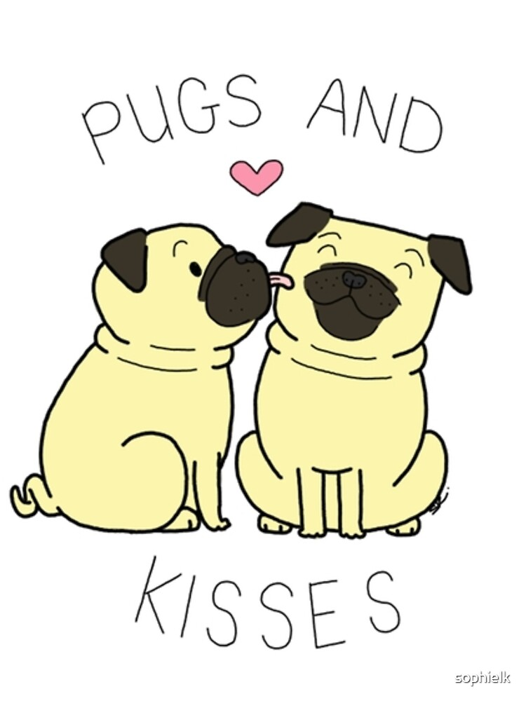Pugs and Kisses - Edición blanca de sophielk