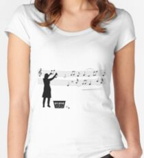 Making music Women's Fitted Scoop T-Shirt