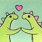 Sweet Stegosaurus Valentine by Zoe Lathey