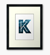 "The Letter ""K"" Ocean Framed Print"