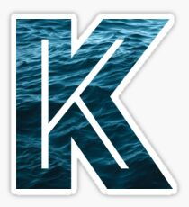 "The Letter ""K"" Ocean Sticker"