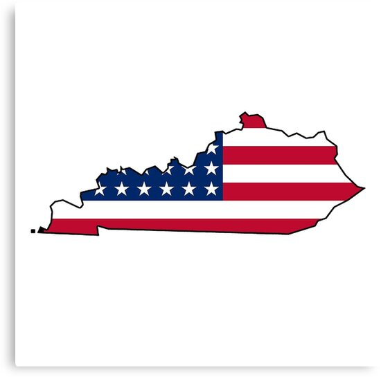 american flag kentucky outline by artisticattitud