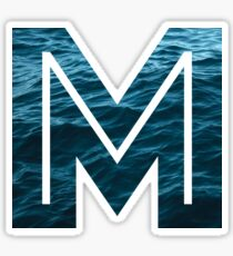 "The Letter ""M"" Ocean Sticker"