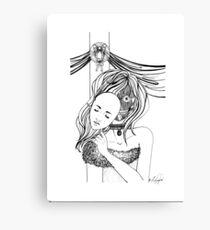 Masquerade Drawing Canvas Prints