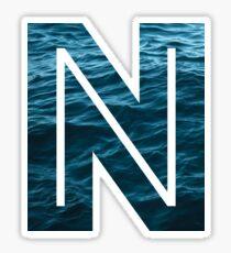 """The Letter """"N"""" Ocean Sticker"""