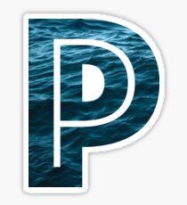 """The Letter """"P"""" Ocean Sticker"""