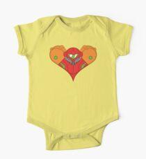 Samus Heart Short Sleeve Baby One-Piece