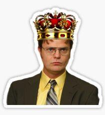 King Dwight (the office) Sticker