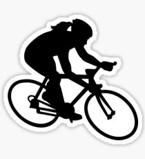 Cycling woman girl Sticker