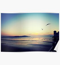 Sunset on the pier at Weston-super-Mare Poster