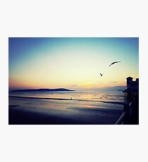 Sunset on the pier at Weston-super-Mare Photographic Print