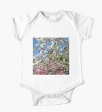 Blue Sky and Beautiful Blossoms One Piece - Short Sleeve