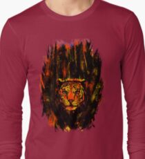 Tiger In The Bushes Long Sleeve T-Shirt