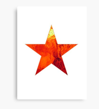 Flaming Star Canvas Print
