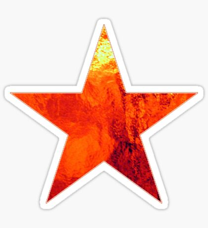 Flaming Star Sticker