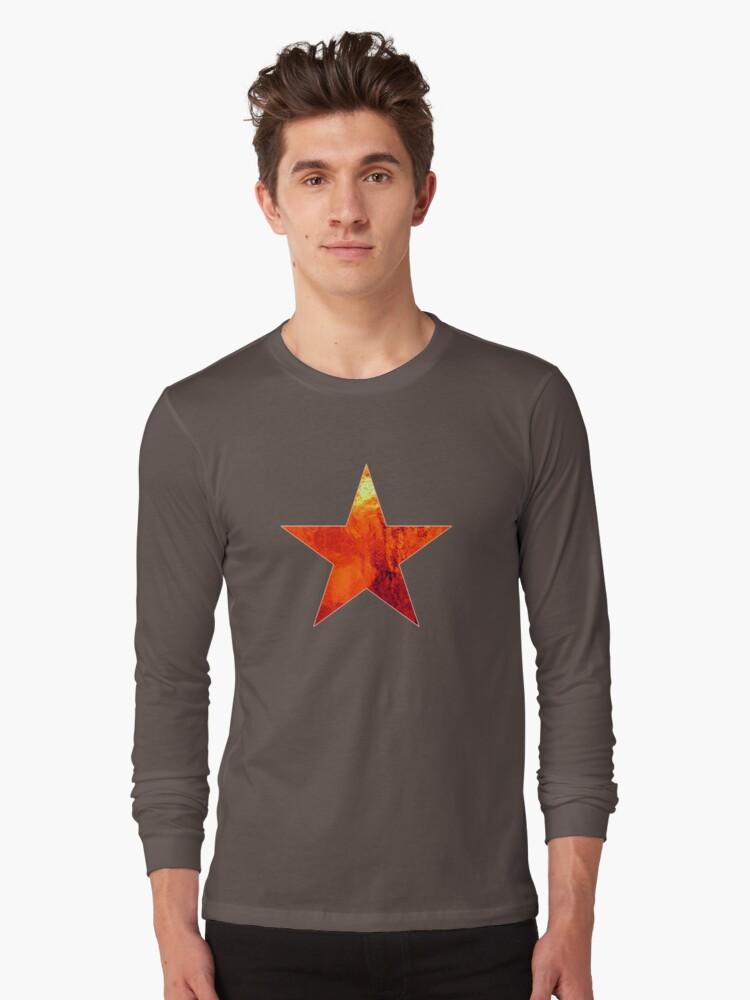 Flaming Star Long Sleeve T-Shirt Front