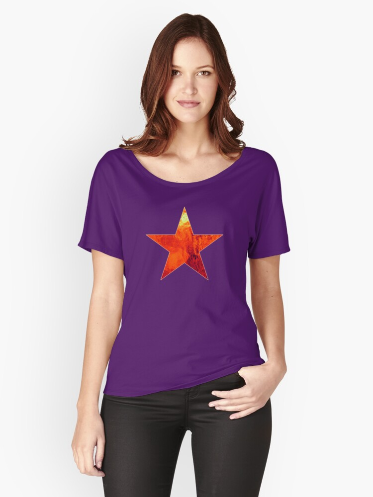 Flaming Star Women's Relaxed Fit T-Shirt Front