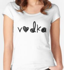 Cute Vodka Women's Fitted Scoop T-Shirt