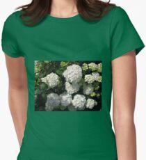Snowballs in Summer - Beautiful White Hydrangea Blossoms T-Shirt
