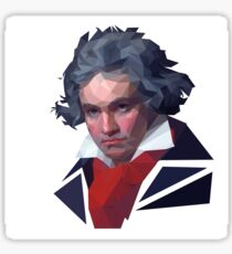 Beethoven Polygonal Sticker