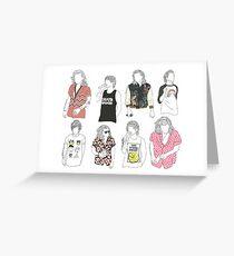 Larry Fashion Greeting Card