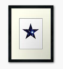 Disco Star Framed Print