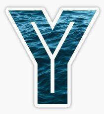 "The Letter ""Y"" Ocean Sticker"
