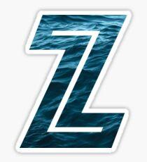 """The Letter """"Z"""" Ocean Sticker"""