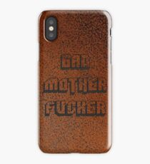 BAD MOTHER FUCKER Leather 2 iPhone Case/Skin
