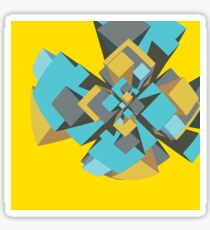 Cool abstract digital explosion Sticker