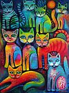 Colourful Kittens by Karin Zeller