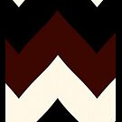 Zigzag maroon, black & white  by sullat04