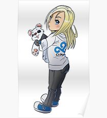 Cute Chibi Character Poster