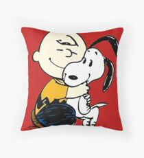 Snoopy and Charlie Soulmate Throw Pillow