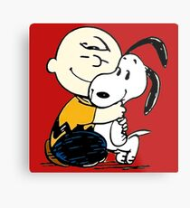 Snoopy and Charlie Soulmate Metal Print