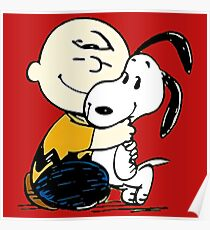 Snoopy and Charlie Soulmate Poster