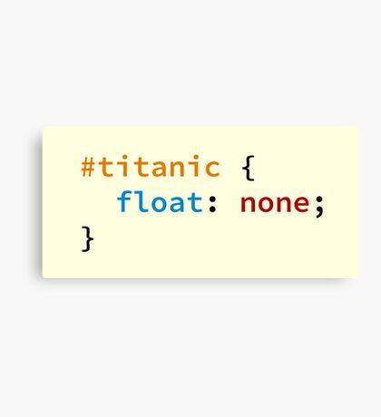 #titanic Canvas Print